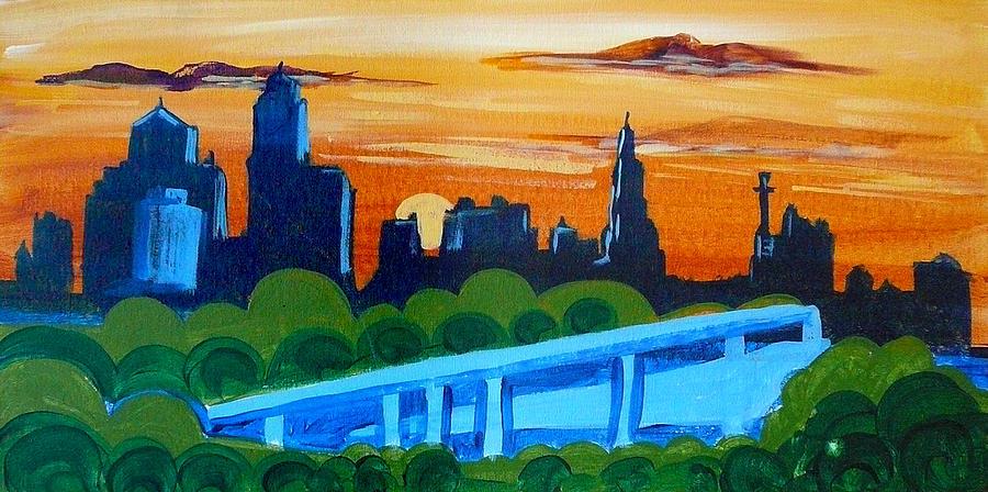 KC Skyline at Sunset by Richard Fritz