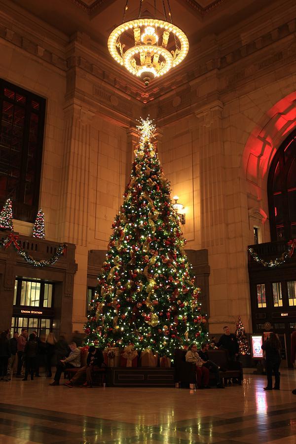 Kc Union Station Christmas Tree Photograph by Carol Schultz