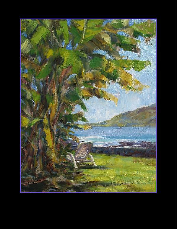 Land And Sea Painting - Kealakekua Captain Cook by Rod Cameron