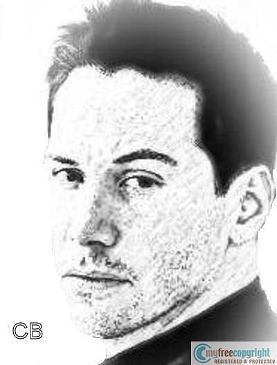Keanu Reeves Painting by Cece Bazel
