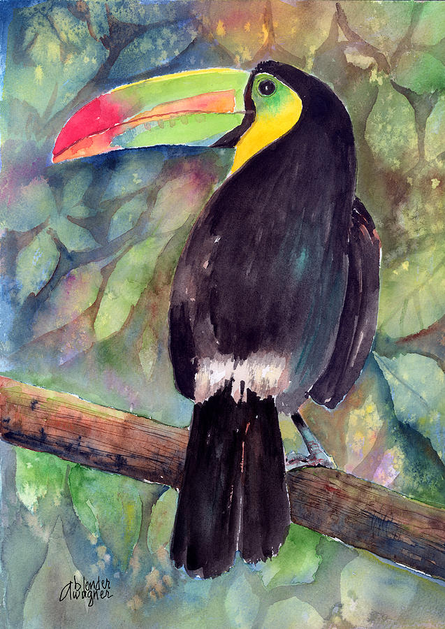 Bird Painting - Keel-billed Toucan by Arline Wagner