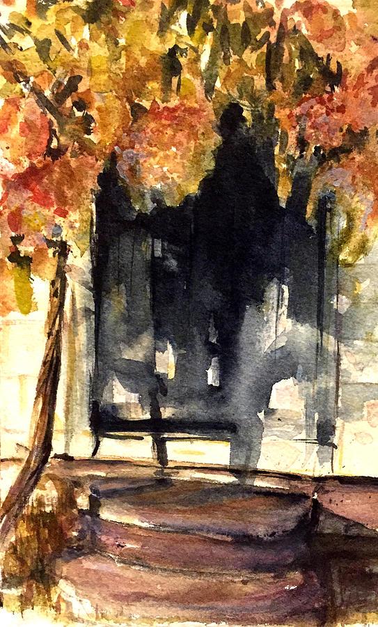 Keeler Tavern Painting - Keeler Hydrangea  by David  Llanos