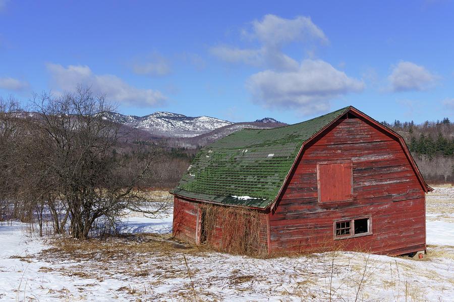 Adirondack Photograph - Keene Barn by Brad Wenskoski