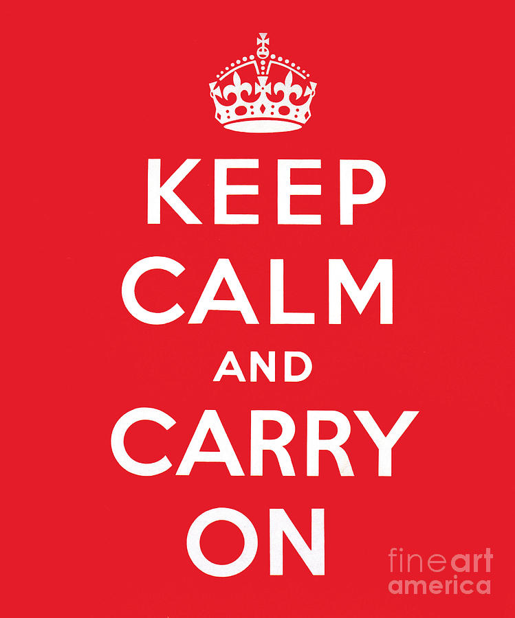 Keep Painting - Keep Calm And Carry On by English School
