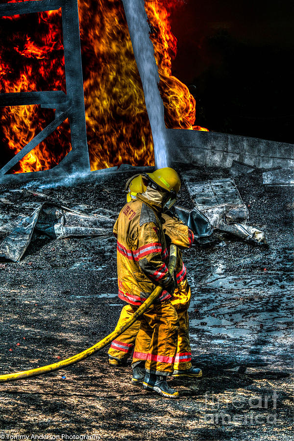 Fire Photograph - Keep Fire In Your Life No 8 by Tommy Anderson