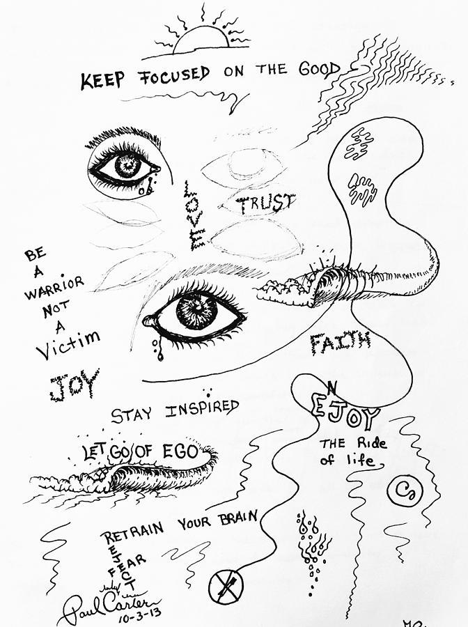 Keep Focused  Drawing by Paul Carter