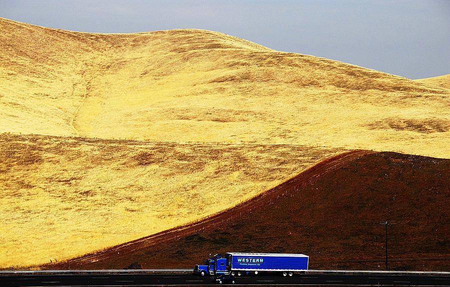 Trucks Photograph - Keep On Western Truckin On Hwy 152 Ca by John King