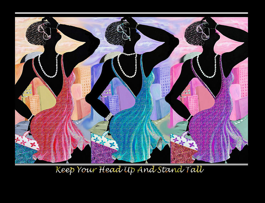 Friendship Greeting Card - Keep Your Head Up by Sharon Elliott