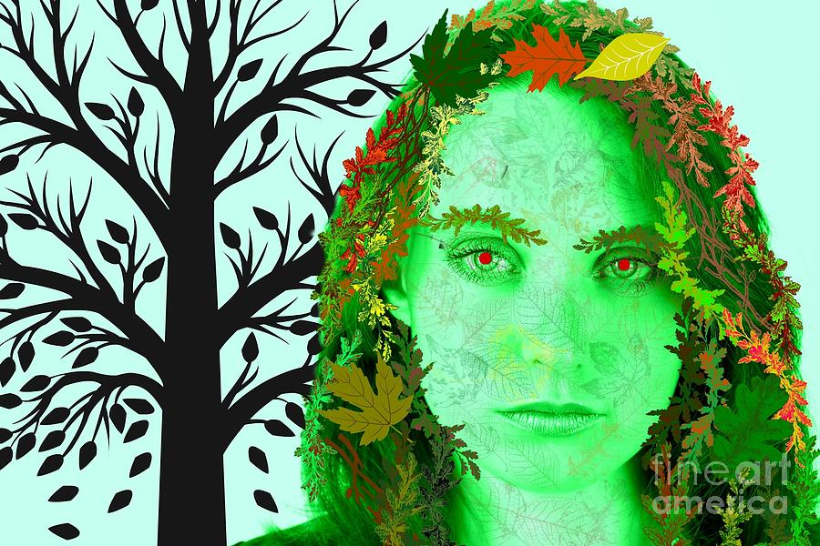 Fall Digital Art - Keeper Of Autumn by Diamante Lavendar