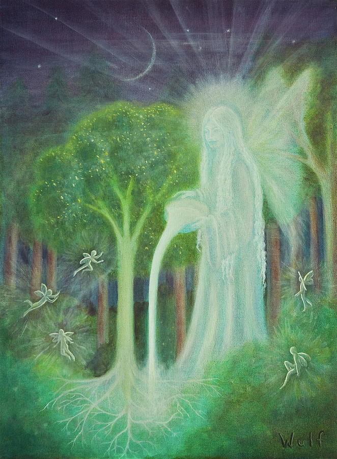 Fairy Painting - Keeper Of The Trees by Bernadette Wulf