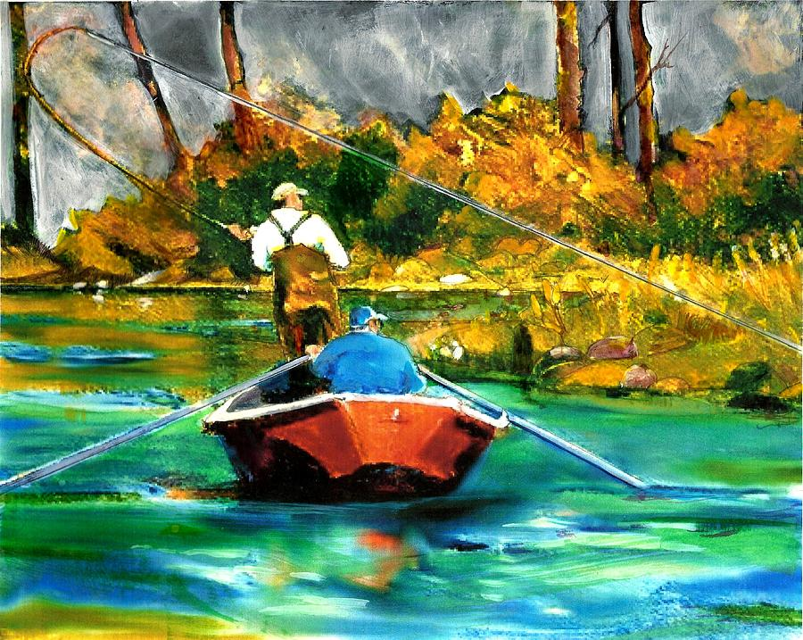 Keeping A Tight Line Painting by Joseph Barani