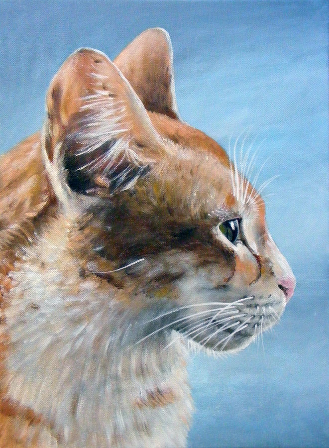 Acrylics Painting - Keeping An Eye On You by Arie Van der Wijst