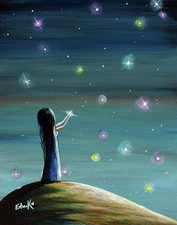 Keeping Her Dreams Alive Fantasy Painting by Erback Art