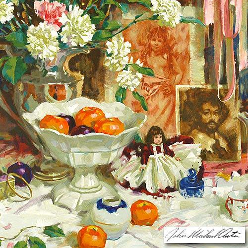Still Life Painting - Keepsakes by John Michael Carter