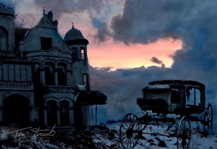 Haunted Mansion  Digital Art - Keg And Carriage by Tom Straub