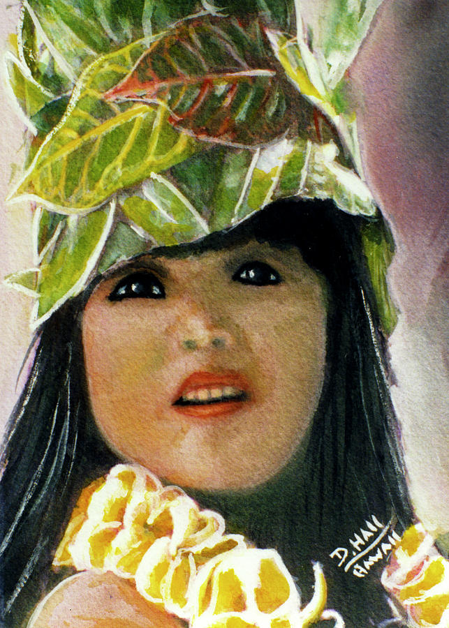 Faces Painting - Keiki Child In Hawaiian #115 by Donald k Hall