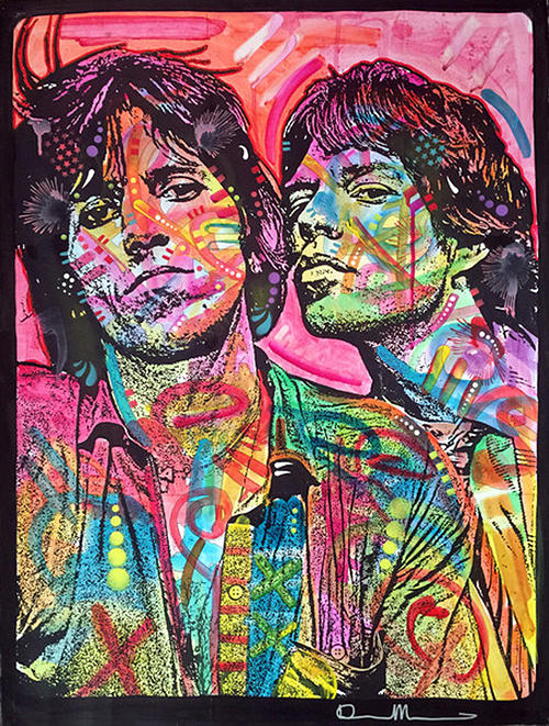 The Rolling Stones Painting - Keith And Mick by Dean Russo Art
