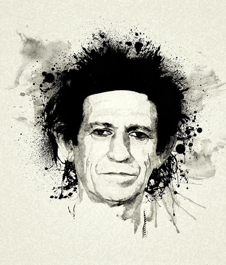 Keith Richards Painting - Keith by Laurence Adamson