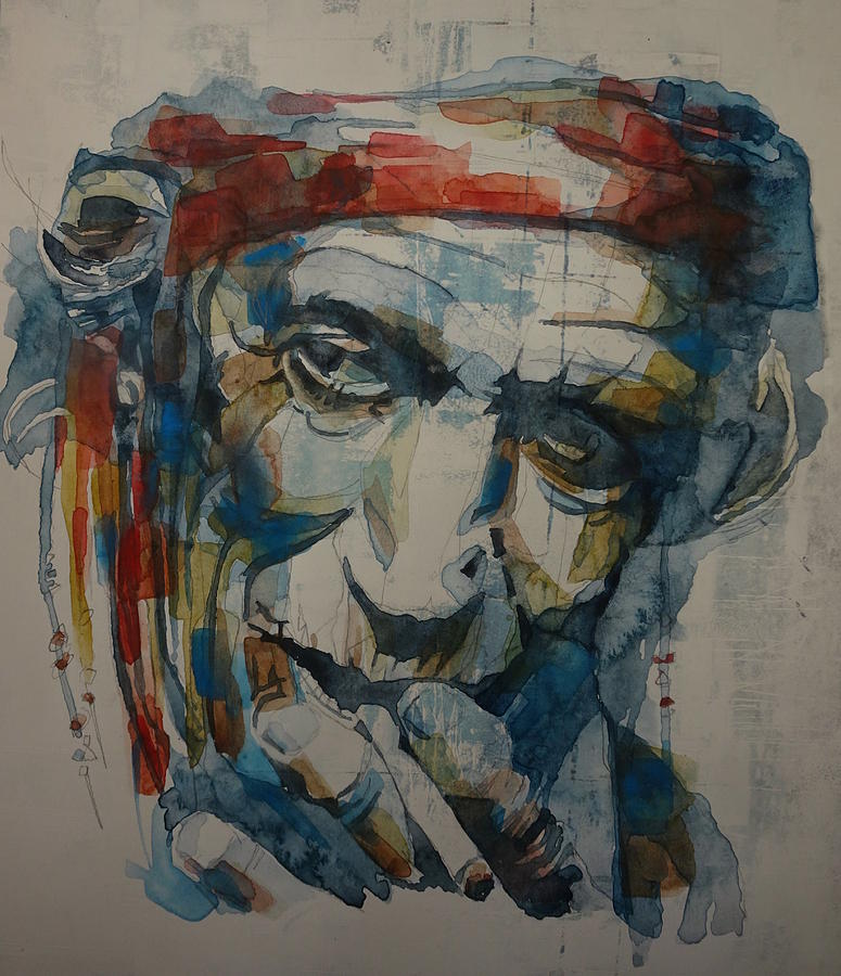 Rolling Stones Painting - Keith Richards Art by Paul Lovering