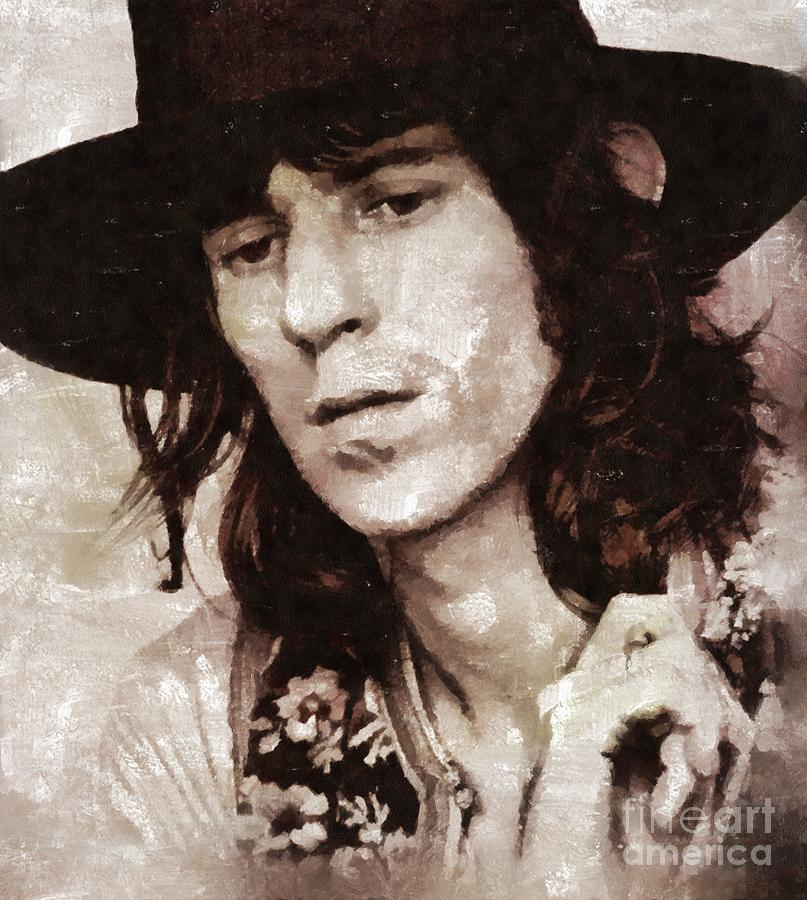 Hollywood Painting - Keith Richards By Mary Bassett by Esoterica Art Agency