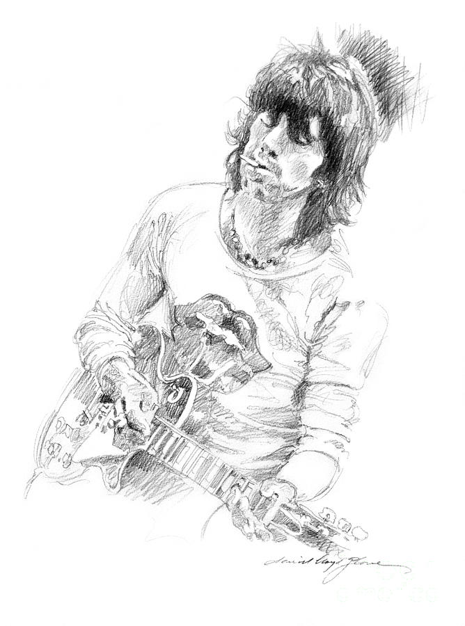 keith richards exile drawing by david lloyd glover
