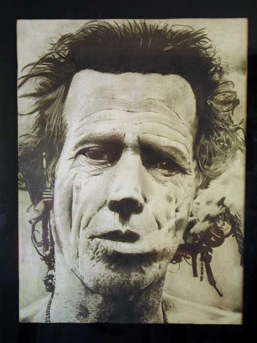 Keith Richards Drawing by Kyle Adamache