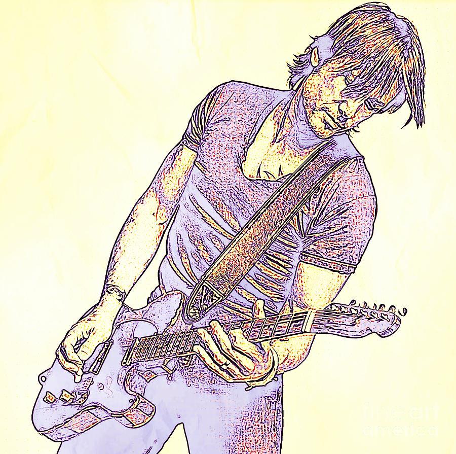 Keith Urban Sketch Photograph
