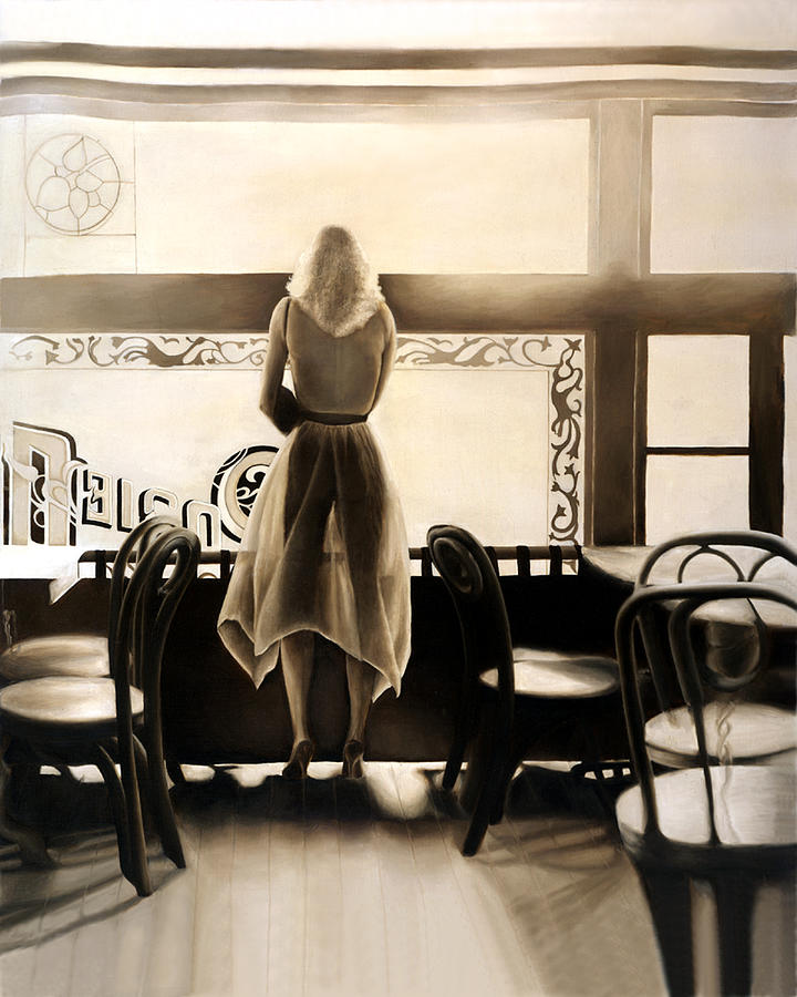 Photorealism Painting - Kelly In The Window by Anni Adkins