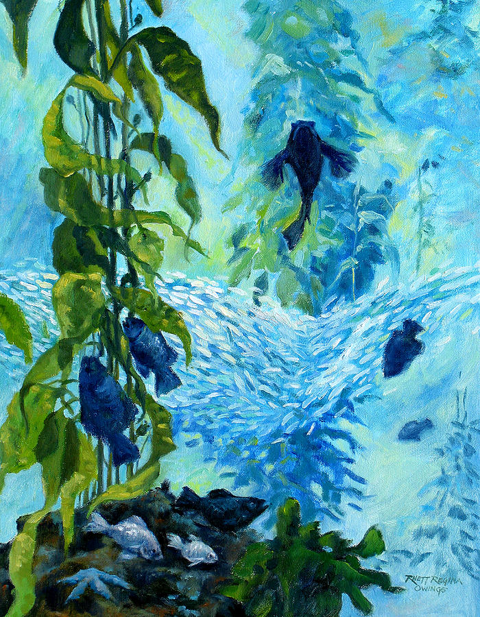 Fish Painting - Kelp Tank, Monterey Bay Aquarium by Rhett Regina Owings