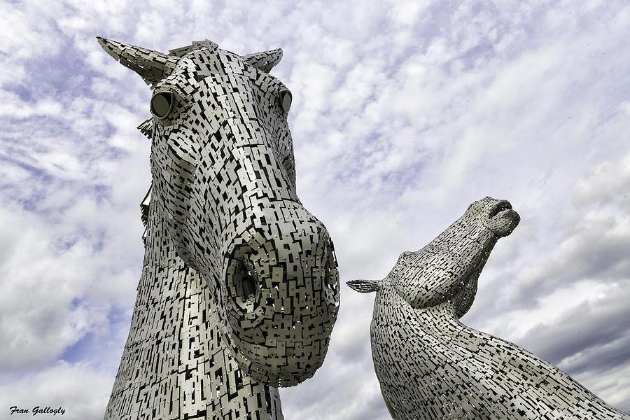 Horses Photograph - Kelpies by Fran Gallogly
