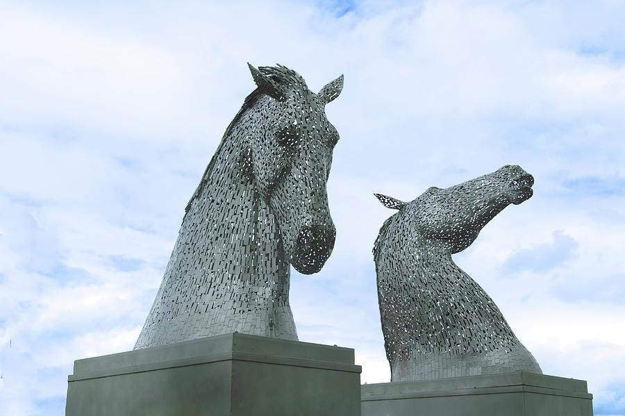 Kelpies Photograph - Kelpies by Ronald Kerr