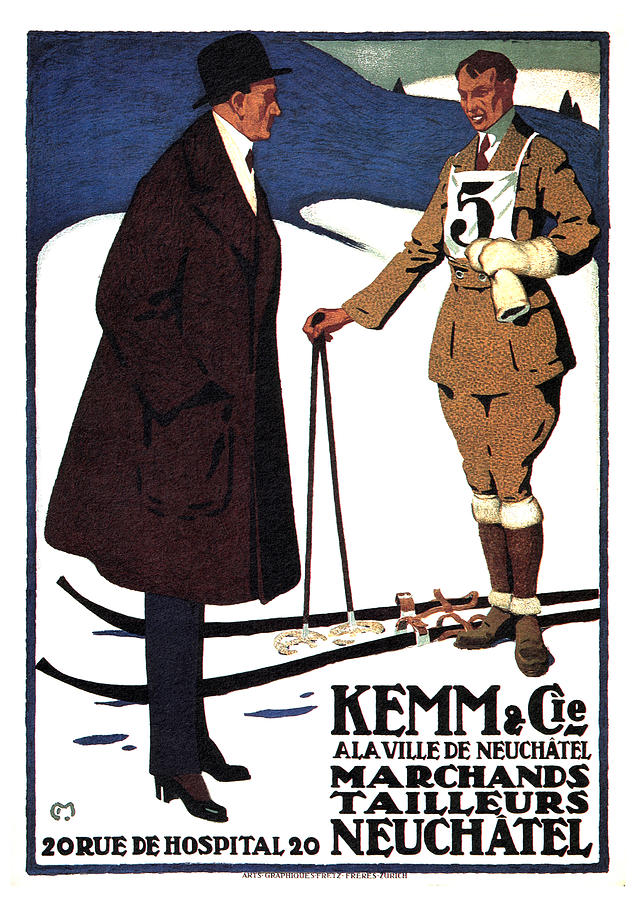 Kemm And Cie - Tailors And Clothing Merchants - Vintage Advertising Poster Mixed Media