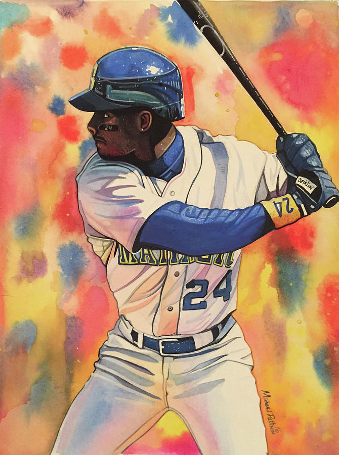 910fe47e17 Ken Griffey Jr. Seattle Mariners Painting by Michael Pattison