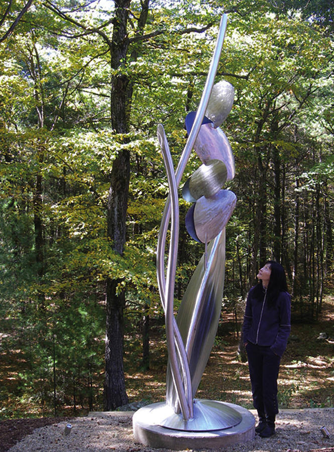 Stainless Steel Sculpture - Kendall Kinetic by David Tonnesen
