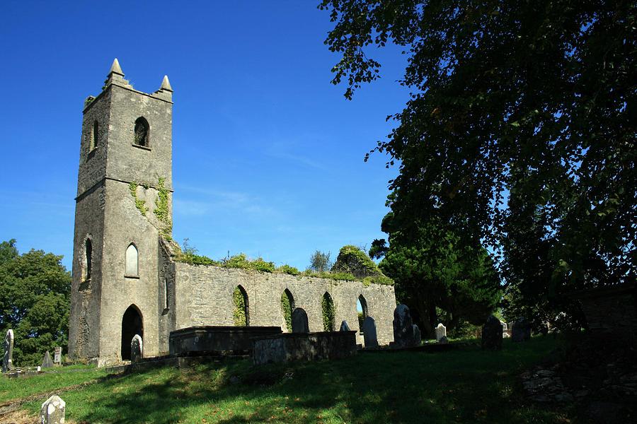 Killowen Photograph - Kenmare Church Ruins by John Quinn