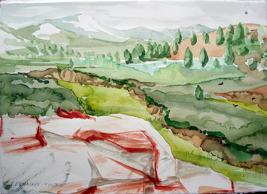 Kennedy Meadows 2 Painting by Amy Bernays