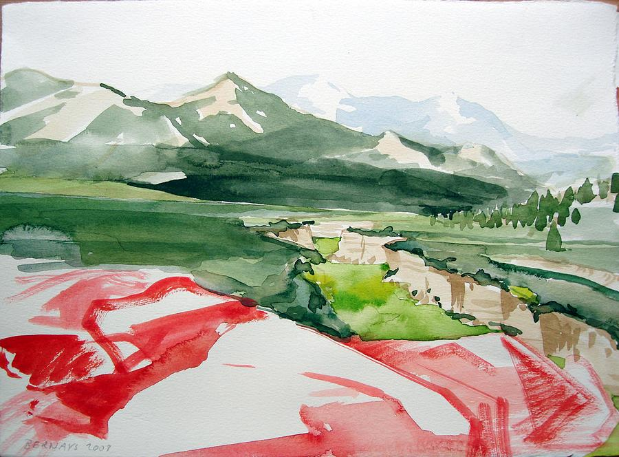Kennedy Meadows Painting by Amy Bernays