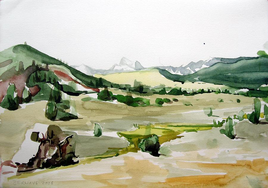 Kennedy Meadows The Dome Lands Painting by Amy Bernays