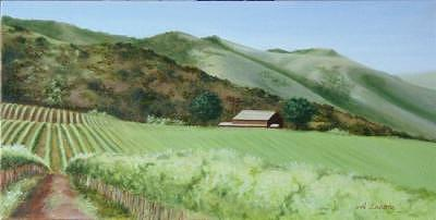 Kenneth Paul Winery Painting by Allison Lucerne