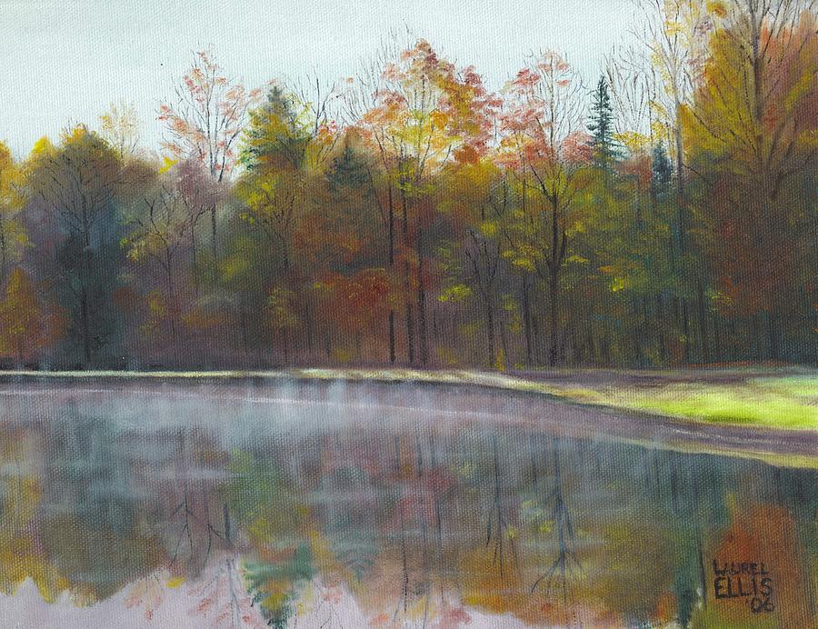 Landscape Painting - Kennison Pond  by Laurel Ellis