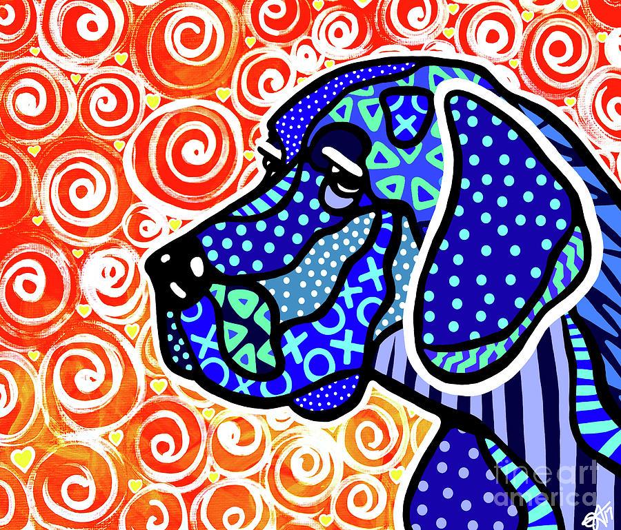 Kenny Weimaraner Big Dog Breeds Labrador Retriever Dogs by Jackie Carpenter