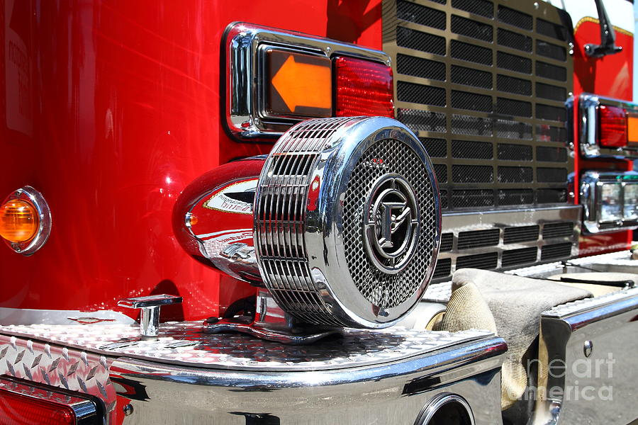 Kensington Photograph - Kensington Fire District Fire Engine Siren . 7d15879 by Wingsdomain Art and Photography