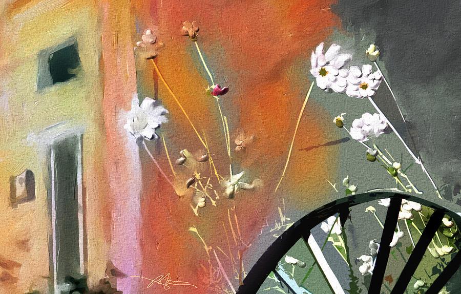 Floral Painting - Kensington Market Floral Detail by Bob Salo