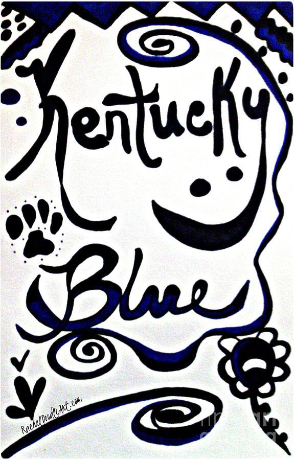 Doodle Drawing - Kentucky Blue by Rachel Maynard