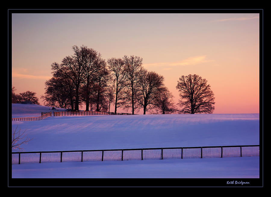 Kentucky Photograph - Kentucky Morning Snow by Keith Bridgman