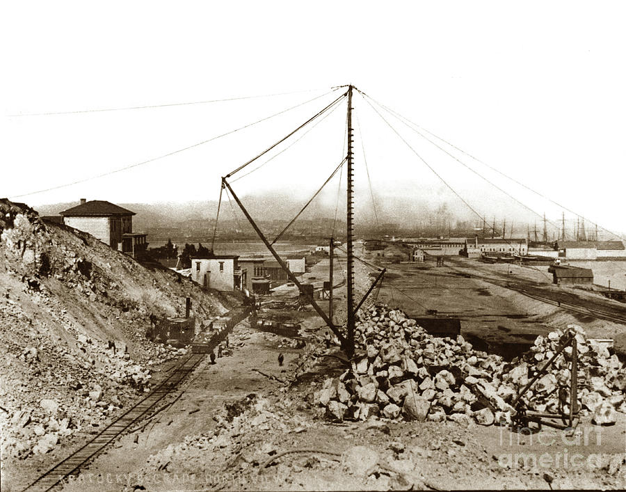 Grade Photograph - Kentucky Street Grand Port View Now 3rd Street Grading Work, C by California Views Archives Mr Pat Hathaway Archives
