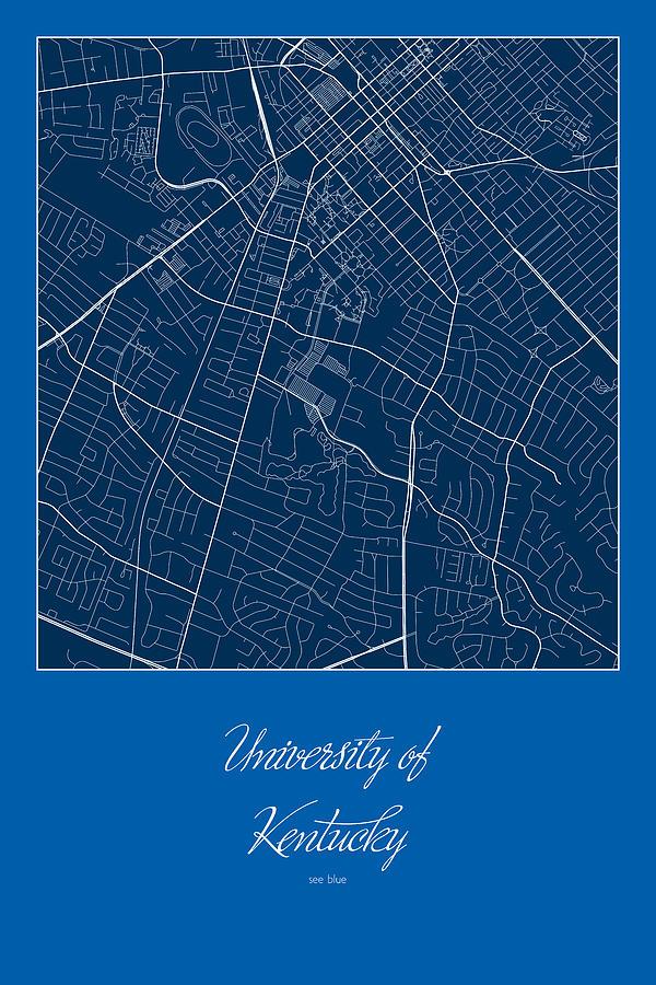 Kentucky Street Map - University Of Kentucky In Lexington Map