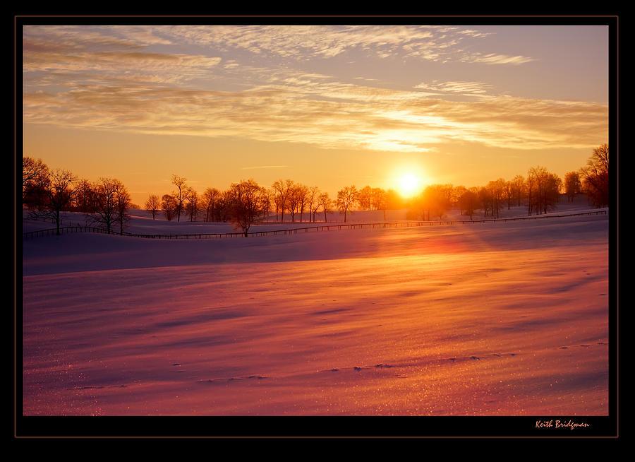 Kentucky Photograph - Kentucky Winter Sunrise by Keith Bridgman