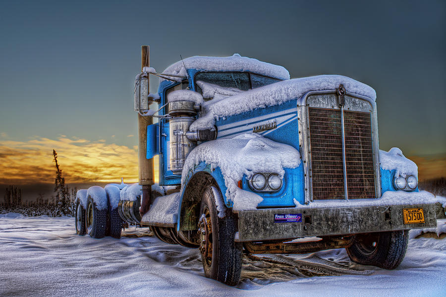 Industrial Photograph - Kenworth Waiting For Summer by Thomas Payer