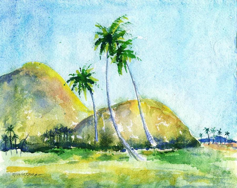 Landscape Painting - Kerala India by Ujjagar Singh Wassan